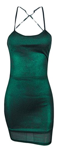 metallic colorblock bandage dress - 1