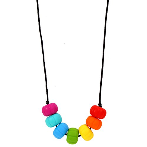 MyBoo Autism/Sensory/Teething Chewable Chunky Multi-Colored Beaded Necklace - Brights