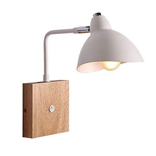 WHKHY El Moderno andamio de luz de Pared de Madera sólida con interruptores Restaurante Lee al líder de la luz Colgante...