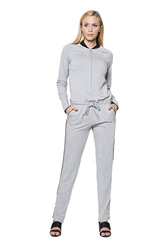 "LA Relaxed ""The Jumpsuit - Heather Gray - M"