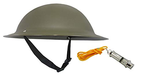 Adult Ally Army Helmet and Trench Whistle Costume, Multicolor, One -