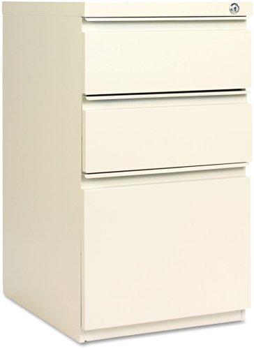 Alera PB532819PY Three-Drawer Mobile Ped File w/Full-Length Pull, 15-7/8w x19-1/4d, Putty