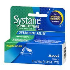 Systane Night Time Lubricant Eye Ointment for Overnight Relief 3.5g Tube (1 Box (Ointment 3.5g Tube)