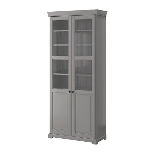 ikea bookcase glass doors - 3