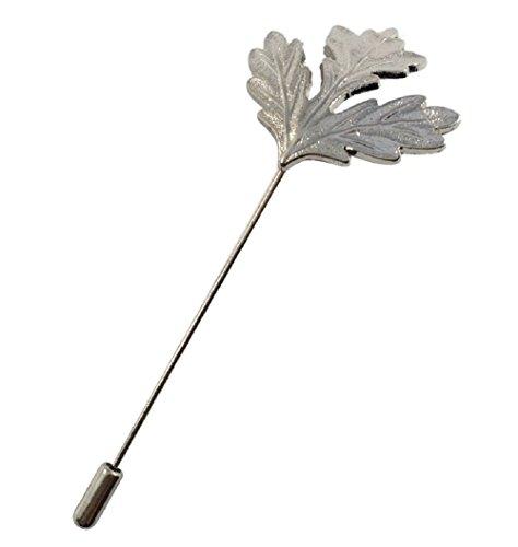 Men's Maple Leaf Lapel Stick Brooch Pin For Formal Wear (Silver) Silver Maple Leaf Pin