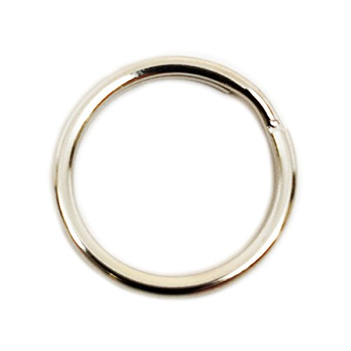 Dog Tag Split Ring Connectors 16MM - Nickel (Quantity 65)