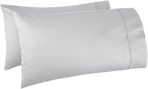 AmazonBasics 400 Thread Count Pillow Cases - Standard, Set o