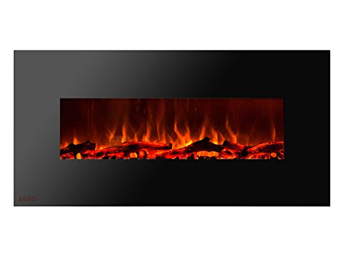 Cheap Ignis Royal 50 inch Wall Mount Electric Fireplace with Logs c SA us Certified (Could be recessed with no Heat) Black Friday & Cyber Monday 2019
