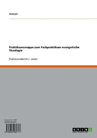 Amazon.com: Praktikumsmappe zum Fachpraktikum evangelische