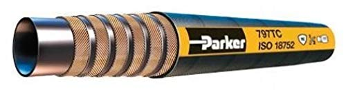 HH 797TC-04 Priced by The Foot 6000 PSI 2 Wire Braids Parker 1//4 Hose