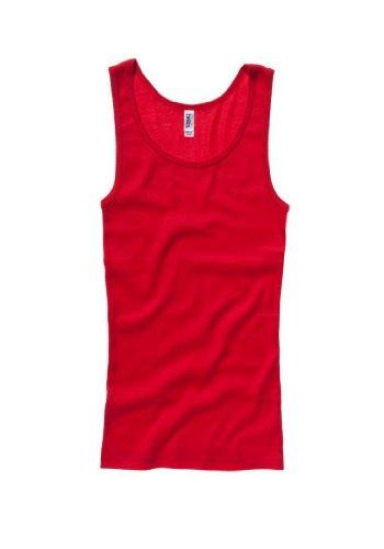 Damen Bella Canvas Weste (Vest) tshirt Tank Top-Red-Large