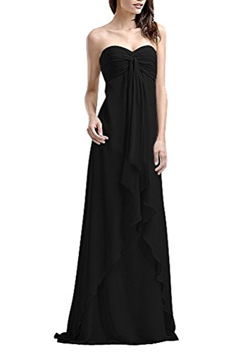 Bridal Black Prom Chiffon Bridesmaid Gown 2017 Ruffles Amore Long Women Dress dvx0PUwUOq