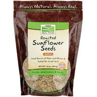 Sunflower Seeds, Roasted, Hulled, Salted 16 oz,From NOW Foods ( Multi-Pack)