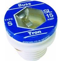 (Bussmann BP/SL-15 15 Amp Time Delay Loaded Link Rejection Base Plug Fuse, 125V UL Listed Carded,)