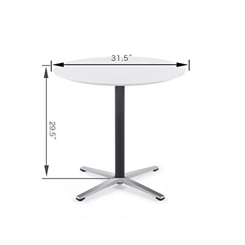 Sunon Round Bistro Table Small Round Table with X-Style Pedestal for Pub Table/Cafe Table/Office Table/Conference Table (Moon White,29.5-Inch Height) by Sunon (Image #6)