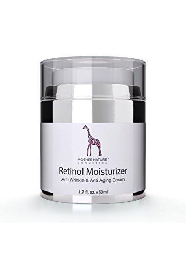 Mother Nature - Retinol Crème || Feuchtigkeitsspender Gegen Trockene Haut & Altersanzeichen|| Hautstraffung & Hautregeneration Für Pralle, Jugendliche Haut || Inklusive Hyaluronsäure || Anti-Aging ||