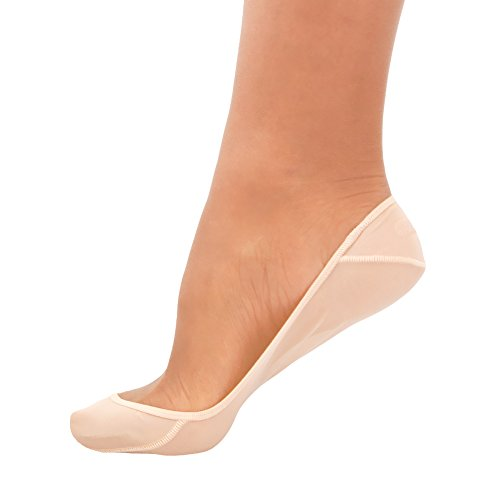 SHEEC - SoleHugger SECRET SHEER No-Show Socks - 4 Pair (Cream/Medium)