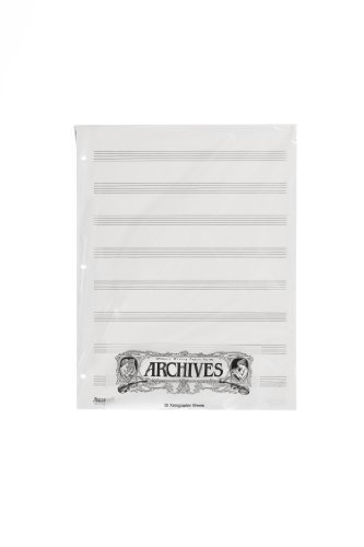Archives Looseleaf Xerographic Manuscript Paper, 8 Stave, 50 Pages (Paper Available)