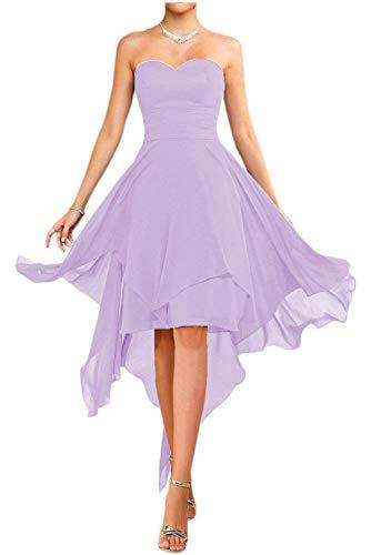Einfach Partykleider Flieder La Brautjungfernkleider Farbe Cocktailkleider Chiffon Mia Heimkehr Viel Kurz Rot Tanzenkleider EEngZR7q