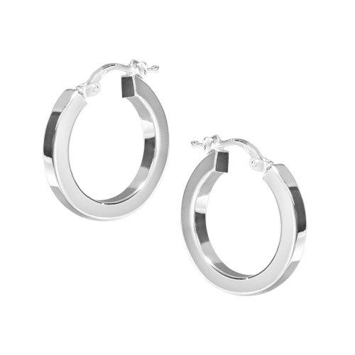 VINANI Creolen Fine Curve Silber 925 Ohrringe CFC