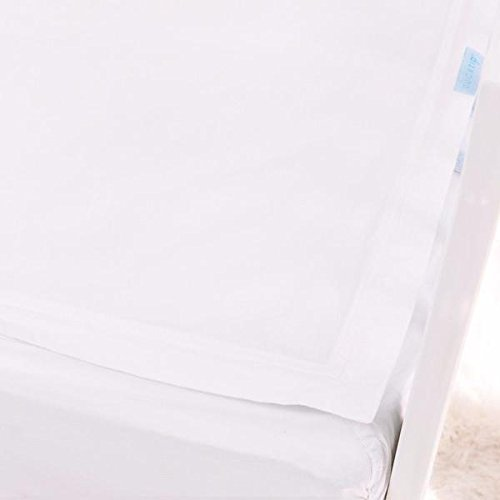 QuickZip Crib Sheet Set - Faster, Safer, Easier Baby Crib Sheets - Includes 1 Wraparound Base & 1 White Cotton Zip-On Crib Sheet - Fits All Standard Crib Mattresses