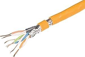 Draka - Cable de instalación (4 x 2 x AWG23/1, cables SFTP con apantallamiento, cat 7a, LSOH)