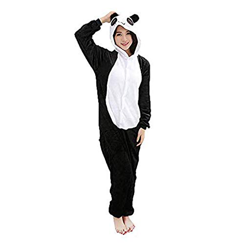 WOWCOS Adult Unisex Animal Kigurumi Cosplay Costume Pajamas Onesies, Panda, L for Height(65'' - 69'') -