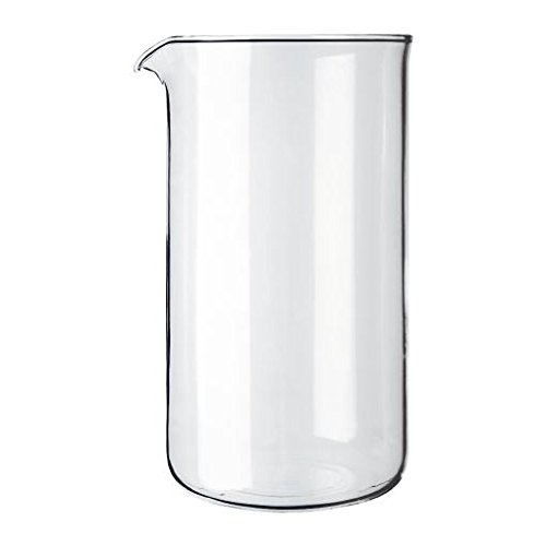 Bodum Transparent Glass Spare Coffee Maker Beaker 8 Cup 1L (34oz) (Pack of 2)