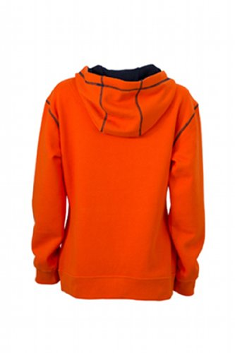 Felpa dark navy Hoody orange amp; Ladies' Arancione Nicholson Kapuzensweatshirt James Donna Lifestyle FqYwUaxWS