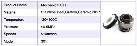 NO LOGO ZZB-LSTH Size : 301 35 1pc Joint m/écanique Pompe Mod/èle 301 Pompe /à Eau Joint m/écanique 301-8//12//14//16//17//18//20//25//35 en c/éramique /à Soufflet m/écanique Bague d/étanch/éit/é