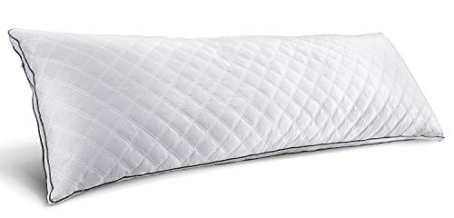 "HOKEKI Luxury Full Body Pillow,Adjustable Fluffy Body Pillow for Sleeping, Soft Long Bed Pillow Insert, 20""x54""(White)"