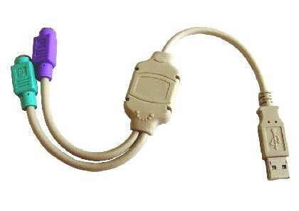 rhinocables USB Male to 2 x PS/2 PS2 Female Splitter