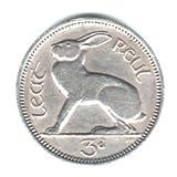 1965 Ireland Threepence Coin KM#12a - Hare
