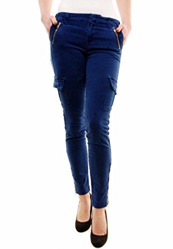 Maverick Pantaloni Nightf Brand Donna Blu J Vin Magro Cargo WngItz