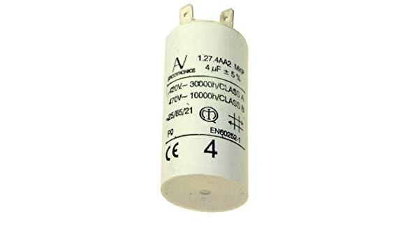 Condensador 4 Mf 420 V para campana Whirlpool: Amazon.es: Grandes electrodomésticos