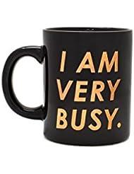 ban.do Hot Stuff Ceramic Mug - I Am Very Busy (Black/Copper)