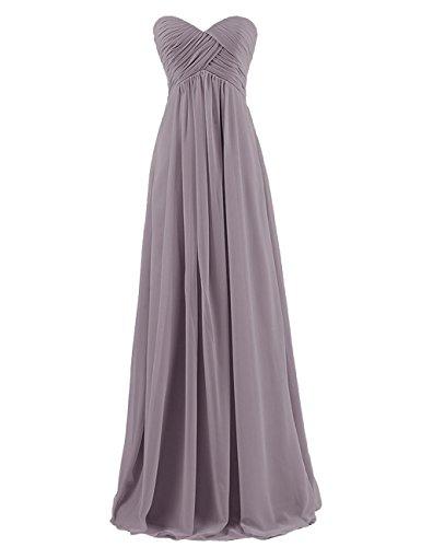 ThaliaDress Women's Empire Long Chiffon Bridesmaid Dress Prom Gown T145LF