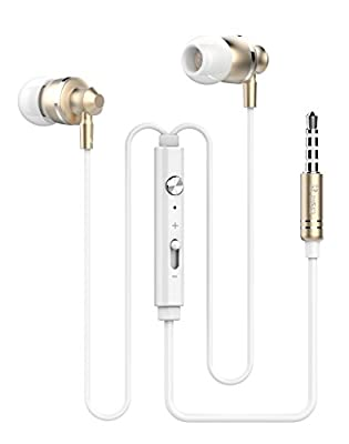ZTstore--In-Ear Metallic Super Bass High Definition 3.5mm Plug Noise-Isolation Headphones Earphones Earbuds EarPods With built in Microphone & Volume Control For Apple iPhone 6, 6 Plus 5S 5C 5 4S 4/ Samsung Galaxy S6, S6 Edge / Galaxy Note 4 / HTC Lumia B