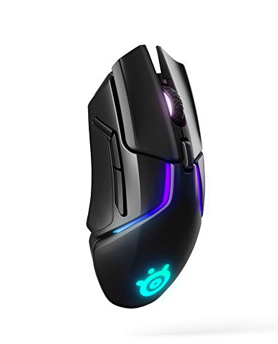 SteelSeries Rival 650 Quantum Wireless Gaming Mouse - Rapid Charging Battery - 12, 000 Cpi Truemove3+ Dual Optical Sensor - Low 0.5 Lift-Off Distance - 256 Weight Configurations - 8 ZONE RGB Lighting