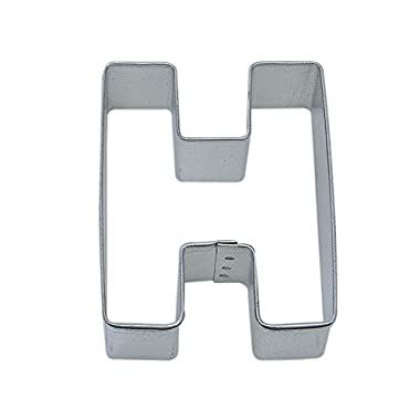 R&M Letter H Cookie Cutter in Durable, Economical, Tinplated Steel