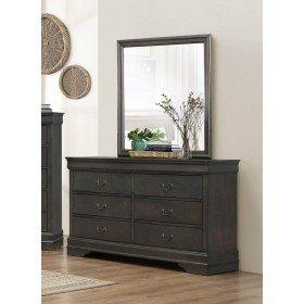 F3 FURNITURE FASHION FORWARD F3 Homelegance 2147SG-6 Dresser Mirror, Grey Mazin Furniture