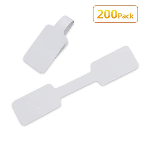 Timoo 200 PCS Blank Jewelry Labels, Paper Barbell Jewelry Display Price Tags Stickers