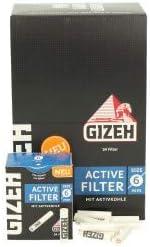 Gizeh Active Tips Slim - Filtros de carbón Activo (102 Unidades, 6 mm, 3 x 34 Unidades)