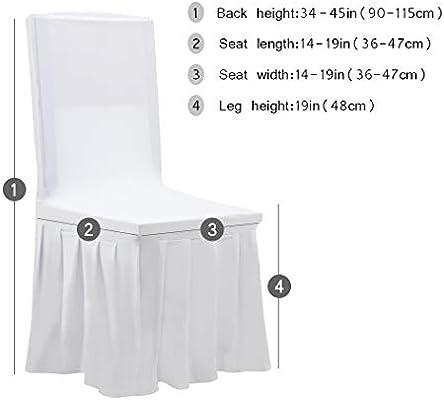 EULIFE 2/4/6/10 Fundas Protectoras para sillas con Falda Moderna elástica extraíble Lavable para sillas de Comedor Fundas para sillas de Respaldo ...