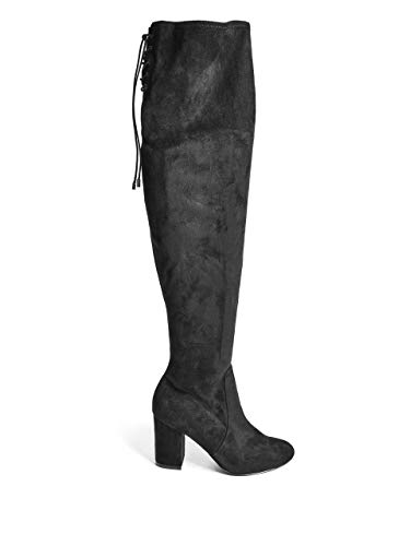 Fabric Black Lacing Knee Boots Over Men's The GUESS 0qZzZ