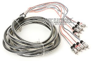 StreetWires ZN9435 11.48 ft. (3.5 Meters) Zero Noise ZN9 Series 4-Channel Interconnect Audio Signal Cable