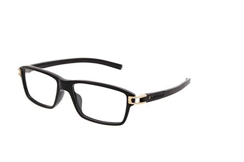 TAG Heuer 7601-009 Track S Shiny Black Square Acetate Eyeglasses - Tag Track Heuer