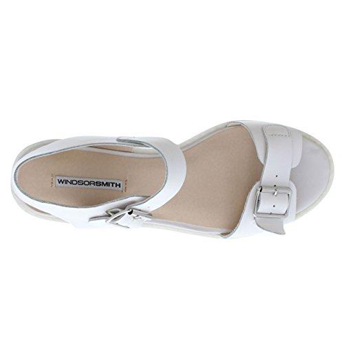 Open Smith White Apertura 5 Uk 3 Tallone Prisma Sandali Cinturino Con Sul Windsor Fibbia qxvTwYpnzE