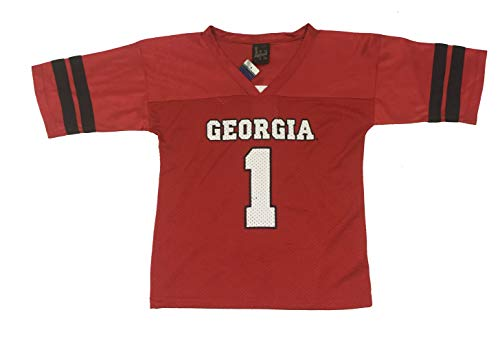Little King Georgia Bulldogs Football Jersey-XL Red