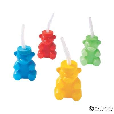 BEAR SHAPE MOLDED CUP - Party Supplies - 12 Pieces: Toys & Games